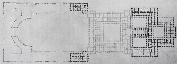 Planta del proyecto de ampliación de Sabatini. Marcado en gris lo ya construido.