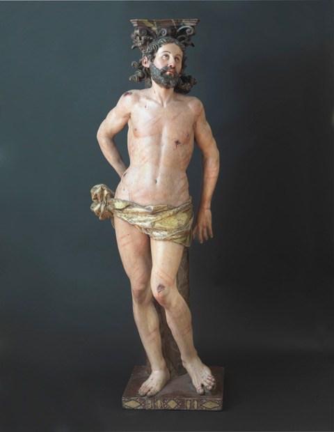Sebastián Ducete. Cristo a la columna. Foto: galería Caylus (vía InvestigArt)