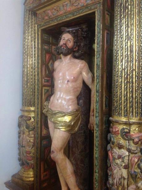 Detalle del Cristo de Ducete. Foto: Miguel Hernández Caballero.