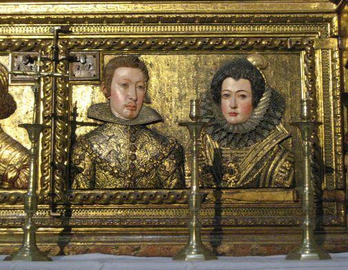 Relicario de la Capilla Real. Detalle de Felipe IV e Isabel de Borbón. Granada. Foto: wikicommons.
