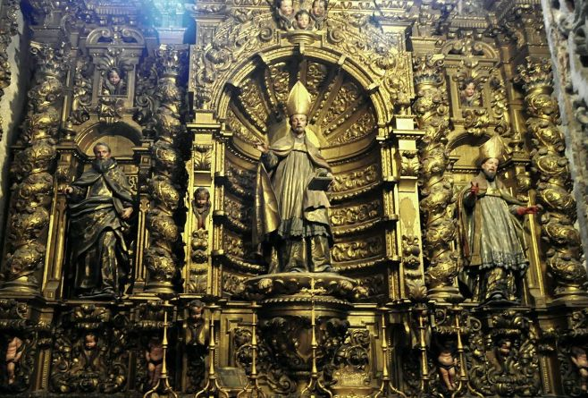 Retablo de la Capilla de San Leandro en la Catedral de Sevilla. Foto: Wikicommons.