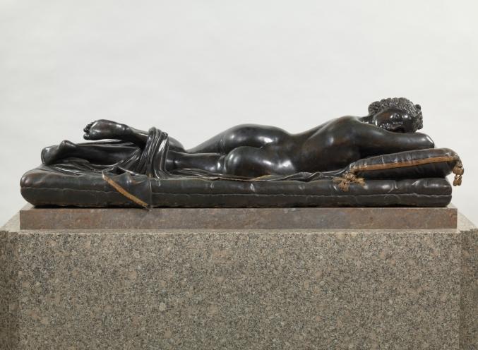Matteo Bonuccelli. Hermafrodito 1652. Bronce, 61 x 160 cm. Museo del Prado