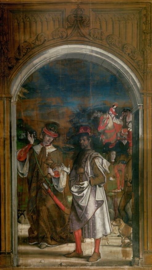 Pedro Berruguete. Dos Reyes Magos. Sarga. Museo del Prado.