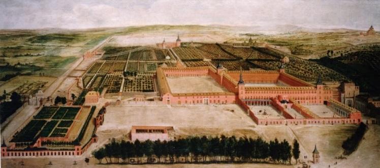 Jusepe Leonardo. Vista del Buen Retiro. ca. 1635. Patrimonio Nacional.