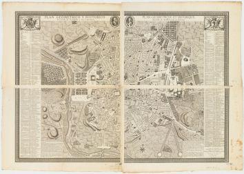 Chalmandrier. Plan geometrico y historico de la villa de Madrid y sus contornos = Plan geometrique et historique de la ville de Madrid et de ses environs. 1761.