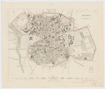Clark. Plano de Madrid. 1831.