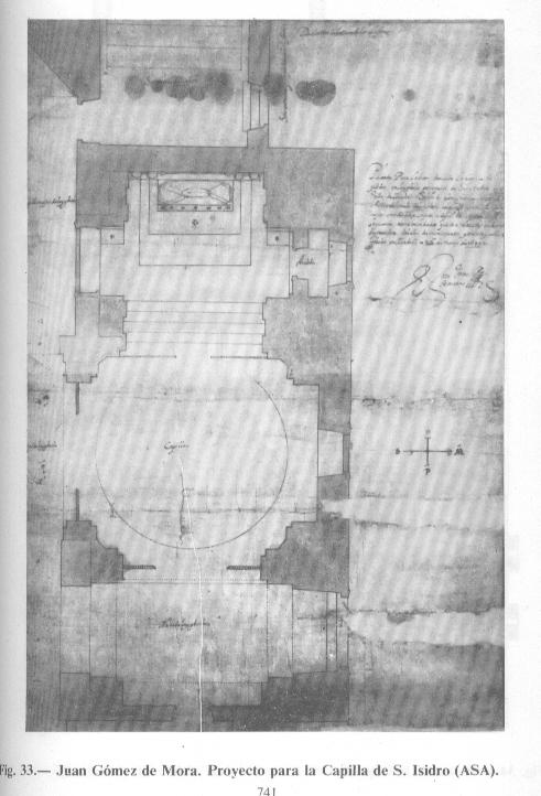 dib. proy. J. Gómez de Mora. proy. capilla S. Isidro en S. A