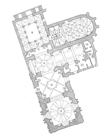 reconstrucción hipotética. planta conjunto S. Andrés. SEGÚN