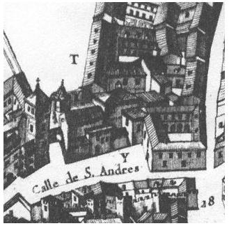 S. Andrés en el plano de Texeira