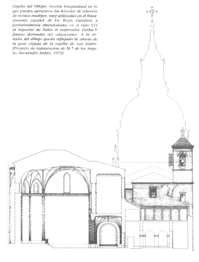 sección capilla obispo en S. Andrés