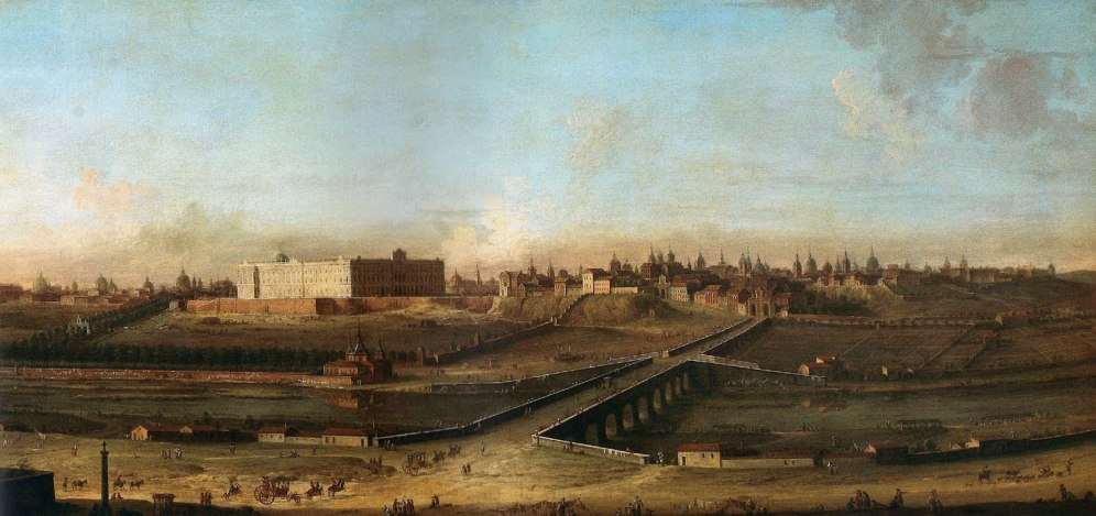 Antonio Joli. Vista del Palacio Real. ca. 1753. foto: wikipedia.