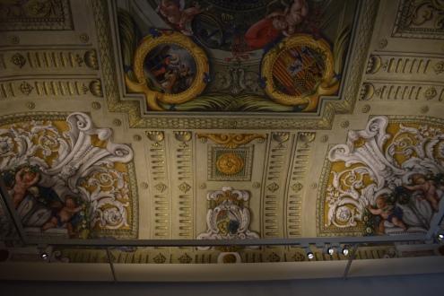 Claudio Coello y Ximénez Donoso. Detalle del techo de la antesacristía. foto: cipripedia.