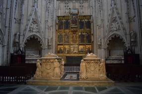 Capilla de Santiago. Sepulcro de D. Álvaro de Luna y Dña. Juana Pimentel. foto: cipripedia.