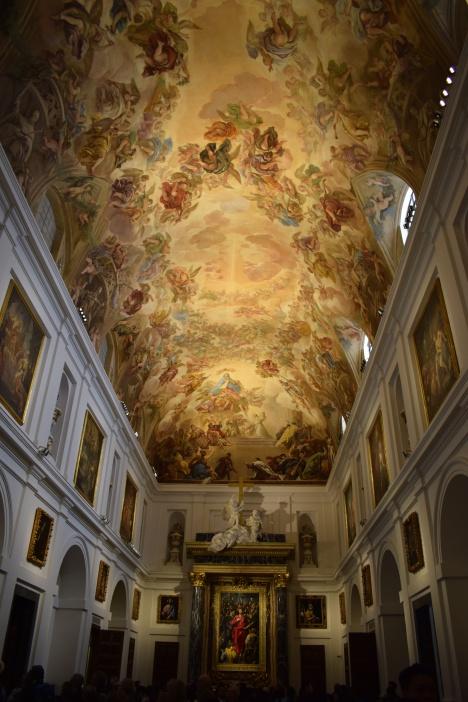 Sacristía. detalle de la bóveda de Luca Giordano. foto: cipripedia.