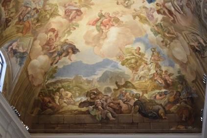 Luca Giordano. Detalle de la bóveda de la Sacristía. foto: cipripedia.