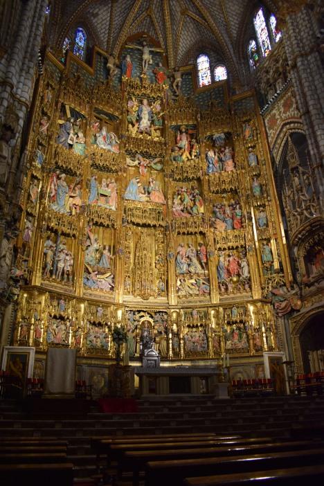 Petit Juan, Maestro Rodrigo, Copín de Holanda, Sebastián de Almonacid, Felipe Bigarny y otros… Retablo de la Catedral de Toledo. 1498-1505. foto: cipripedia.