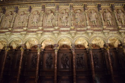 Sillería alta del coro de la Catedral de Toledo. foto: cipripedia.