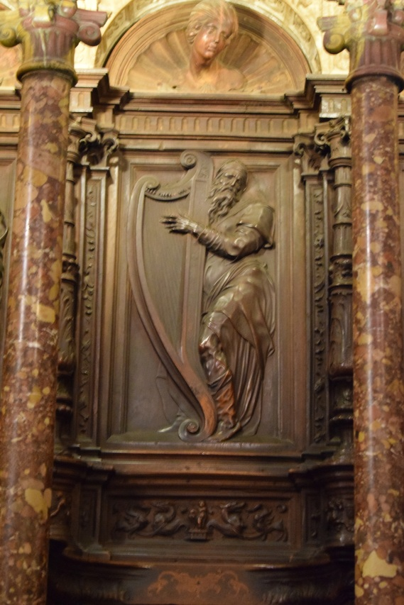 Alonso Berruguete. Profeta David. Sillería alta de la catedral de Toledo. foto: cipripedia.