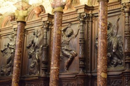 Alonso Berruguete. Detalle de la sillería alta de la Catedral de Toledo. foto: cipripedia.