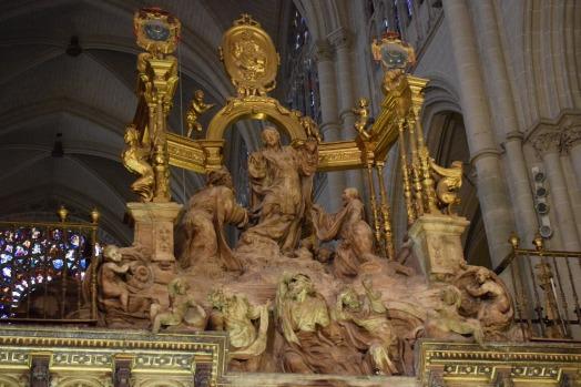 Alonso Berruguete. La transfiguración. remate de la sillería del coro de la Catedral de Toledo. foto: cipripedia.