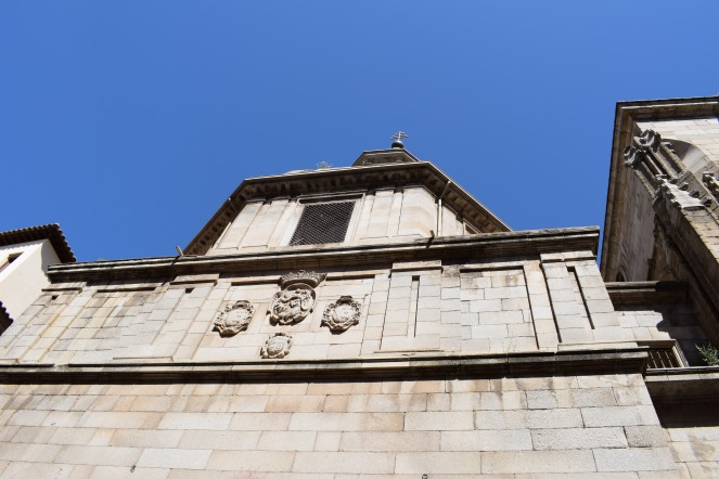 Muro de la capilla del Ochavo desde la puerta del Reloj. foto: cipripedia.