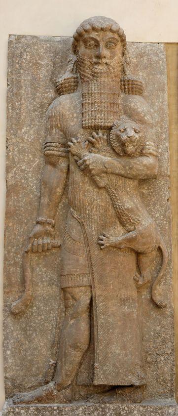 Figura de Gilgamesh del palacio de Sargon II (Museo del Louvre). Foto: wikipedia.