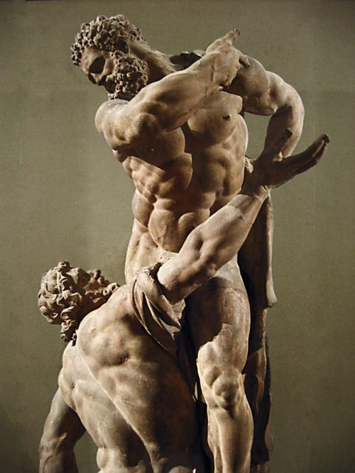 Michel Anguier. Hércules y Atlas. Terracota. ca. 1668. Museo del Louvre. Foto: pinterest (Antonio-M [http://antonio-m.tumblr.com/tagged/antonio.m])