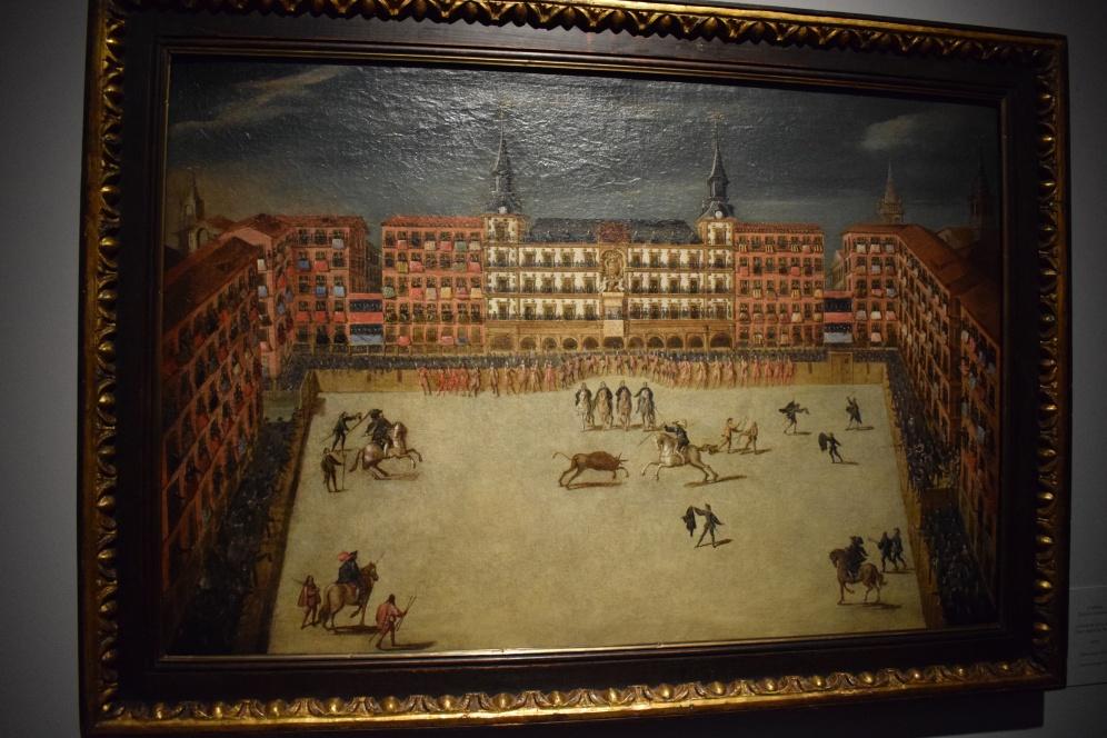 Anónimo: Corrida de toros en la Plaza Mayor de Madrid, 1678. Óleo sobre lienzo. Colección Abelló