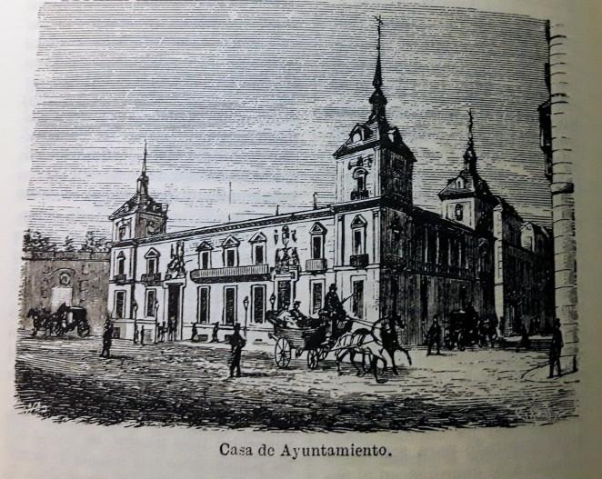 Estampa de la Casa de la Villa publicada en la Guía de Ferández de los Ríos.
