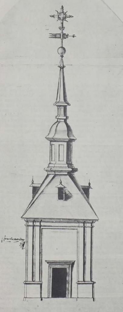 Antonio Martínez. Torre con Chapitel para la Casa de la Villa. 1692. ASA 2-499-9. Foto: Catálogo Juan Gómez de Mora 1986.