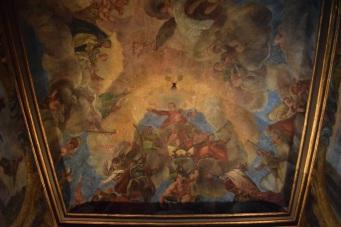 Antonio Palomino. Bóveda de la Virgen con Santos. Foto: @cipripedia