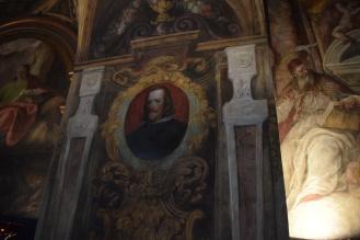 Antonio Palomino. Detalle de Felipe IV. Oratorio Casa de la Villa. Foto: @cipripedia