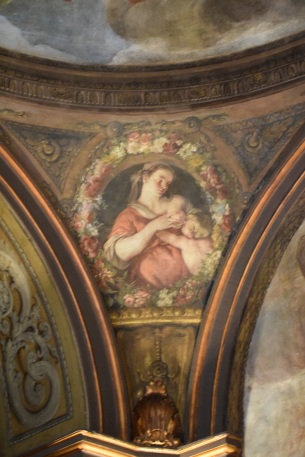 Antonio Palomino. Decoración de una pechina con figura alegórica. Oratorio Casa de la Villa. Foto: @cipripedia