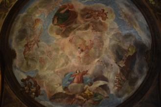 Antonio Palomino. Cúpula con la Asunción de la Virgen. Oratorio Casa de la Villa. Foto: @cipripedia