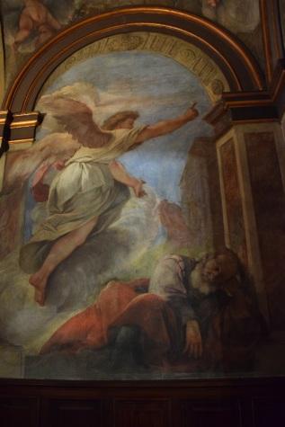 Antonio Palomino. Detalle del sueño de San Joaquín. Oratorio de la Casa de la Villa. Foto: @cipripedia