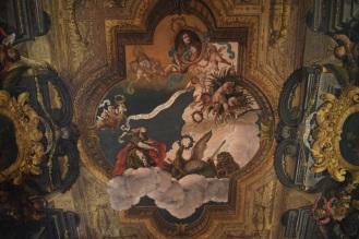 Antonio Palomino. Detalle del grupo central del techo del salón de plenos. Foto: @cipripedia
