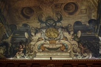 Antonio Palomino. Detalle de la decoración del techo del Salón de plenos. Foto: @cipripedia