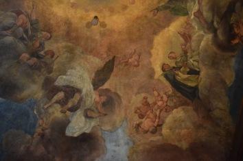 Antonio Palomino. Detalle de la bóveda del Oratorio. Foto: @cipripedia