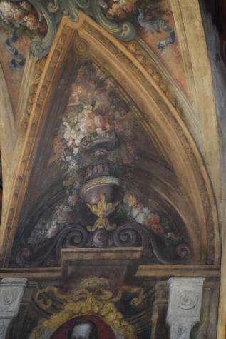 Antonio Palomino. Detalle de la decoración del Oratorio. Foto: @cipripedia