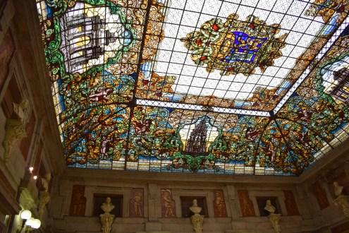 Patio de la Casa de la Villa. Detalle de la Vidriera de la casa Maumejean. Foto: @cipripedia