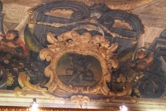 Antonio Palomino. Detalle de la decoración del techo del salón de plenos. 1692. Foto: @cipripedia.