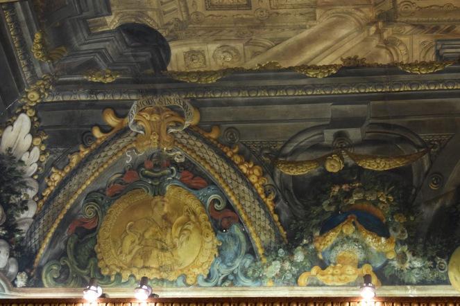 Antonio Palomino. Detalle decoración techo salón de plenos. 1692. Foto: @cipripedia.