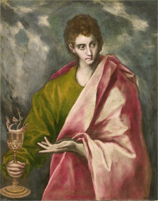 El Greco (y taller). San Juan Evangelista. Museo del Prado.