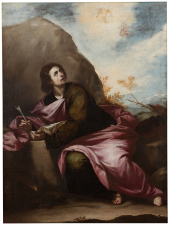 Alonso Cano (atrib.) San Juan evangelista en Patmos. Museo del Prado.