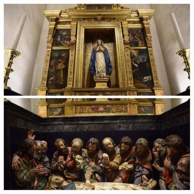Retablo de la Asunción y grupo escultórico del tránsito. Colegiata de San Isidro en Madrid. foto: @cipripedia.