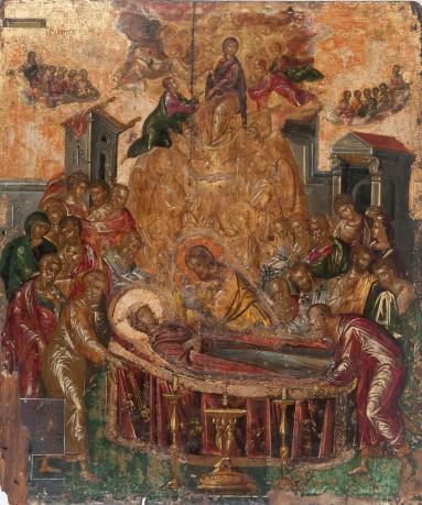 El Greco. La Dormición de la Virgen. ca. 1565. Catedral del Tránsito de la Virgen. Ermúpoli (Grecia). Foto: wikipedia.