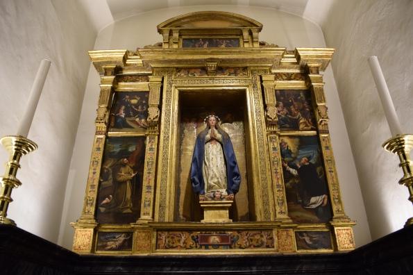 Retablo de la Asunción de la Virgen en la Colegiata de San Isidro en Madrid. s. XVII. foto: @cipripedia.