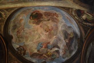 Antonio Palomino. Fresco con la Asunción de la Virgen. Oratorio de la Casa de la Villa de Madrid. foto: @cipripedia.
