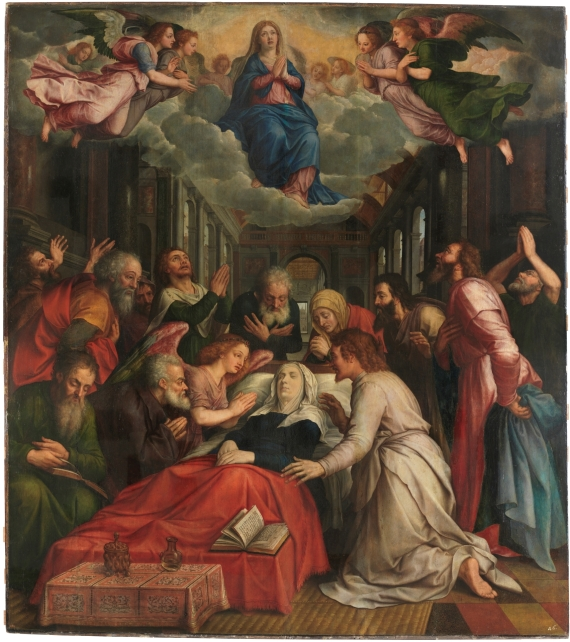 Michiel Coxcie. La muerte de la Virgen. antes de 1550. Museo del Prado.