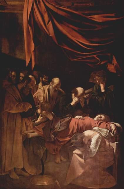 Michelangelo Caravaggio. La muerte de la Virgen. 1606. Museo del Louvre.